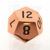 TDSO Metal Polished Copper Finish D12 Dice