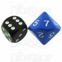 Koplow Opaque Blue & White 20mm D7 Dice