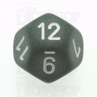 Chessex Frosted Smoke & White D12 Dice - Discontinued