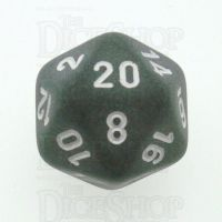 Chessex Frosted Smoke & White D20 Dice - Discontinued