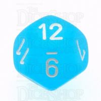 Chessex Frosted Caribbean Blue & White D12 Dice