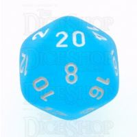Chessex Frosted Caribbean Blue & White D20 Dice