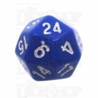 Tessellations Opaque Blue & White Deltoidal D24 Dice