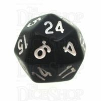 Tessellations Opaque Black & White Deltoidal D24 Dice