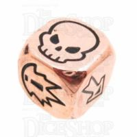 TDSO Metal Polished Copper Finish Block D6 Dice