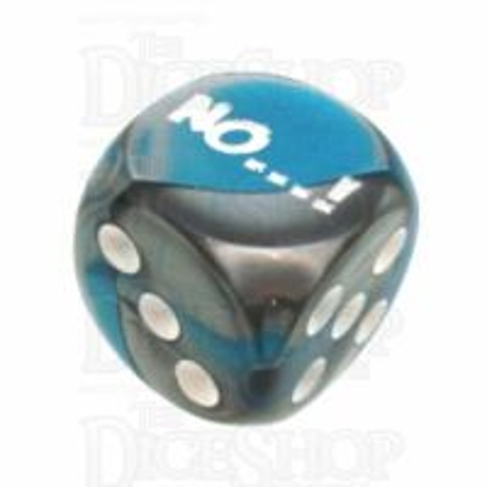 Chessex Gemini Steel & Teal NO...! Logo D6 Spot Dice