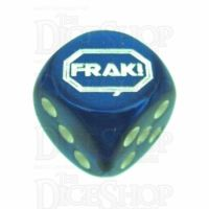 Chessex Gemini Blue FRAK! Logo D6 Spot Dice