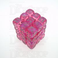 Chessex Borealis Pink 36 x D6 Dice Set