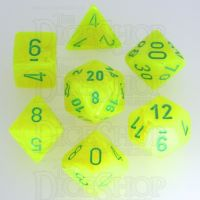 Chessex Vortex Electric Yellow & Green 7 Dice Polyset
