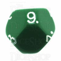 Impact Opaque Green & White D9 Dice