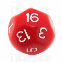 Impact Opaque Red & White D16 Dice