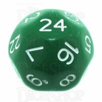 Impact Opaque Green & White D24 Dice