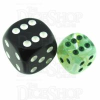 Chessex Marble Green 12mm D6 Spot Dice