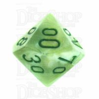 Chessex Marble Green Percentile Dice