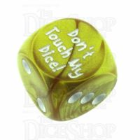 Chessex Gemini Gold Don't Touch My Dice! Logo D6 Spot Dice