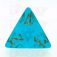 Chessex Borealis Teal D4 Dice