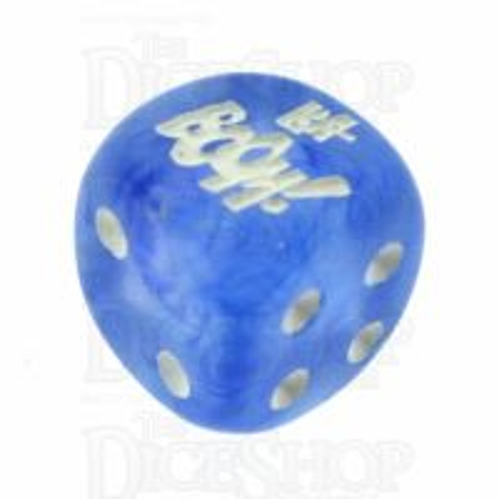 Chessex Borealis Sky Blue KA-BOOM! Logo D6 Spot Dice