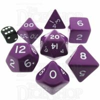 D&G Opaque Purple JUMBO 34mm 7 Dice Polyset