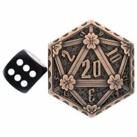 TDSO Metal Crit & Miss Ancient Copper D2 Dice Coin