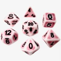 TDSO Opaque Antique Ghostly Red 7 Dice Polyset