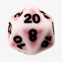 TDSO Opaque Antique Ghostly Red D20 Dice