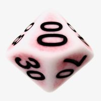 TDSO Opaque Antique Ghostly Red Percentile Dice