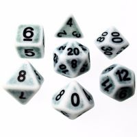 TDSO Opaque Antique Ghostly Teal 7 Dice Polyset