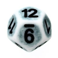 TDSO Opaque Antique Ghostly Teal D12 Dice