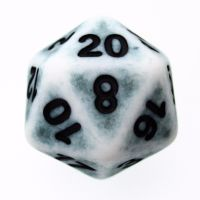 TDSO Opaque Antique Ghostly Teal D20 Dice