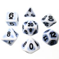 TDSO Opaque Antique Ghostly Blue 7 Dice Polyset