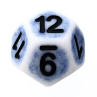 TDSO Opaque Antique Ghostly Blue D12 Dice