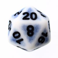 TDSO Opaque Antique Ghostly Blue D20 Dice