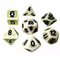 TDSO Opaque Antique Ghostly Green 7 Dice Polyset