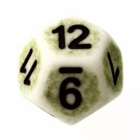 TDSO Opaque Antique Ghostly Green D12 Dice
