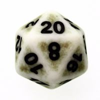 TDSO Opaque Antique Ghostly Green D20 Dice