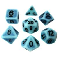 TDSO Opaque Antique Ghostly Turquoise 7 Dice Polyset