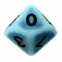 TDSO Opaque Antique Ghostly Turquoise D10 Dice