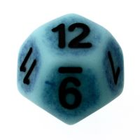 TDSO Opaque Antique Ghostly Turquoise D12 Dice