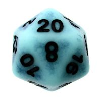 TDSO Opaque Antique Ghostly Turquoise D20 Dice