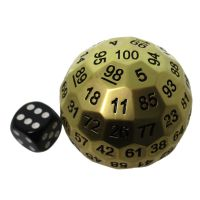 TDSO Metal Cannonball Pearl Gold 55mm D100 Dice