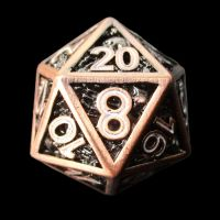 TDSO Metal Copper Steampunk Skeleton 7 Dice Polyset