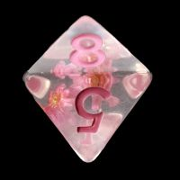 TDSO Encapsulated Flower Baby Pink D8 Dice