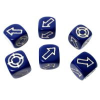 CLEARANCE D&G Opaque Blue Scatter 12mm 6 x D6 Dice