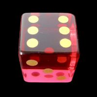 TDSO Zircon Glass Ruby with Engraved Numbers 16mm Precious Gem D6 Spot Dice