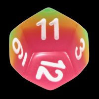 TDSO Layer Candy Glow In The Dark D12 Dice